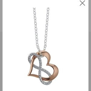 Heart and infinity pendant necklace